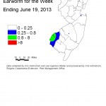 CEW Distribution from Blacklight Traps 6/19/13