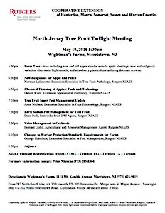 North Jersey Tree Fruit Meeting