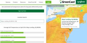 webshot Syngenta GreenCast Soil Temp for NJ